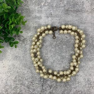 J. Crew Cluster Pearl Choker Necklace A3930